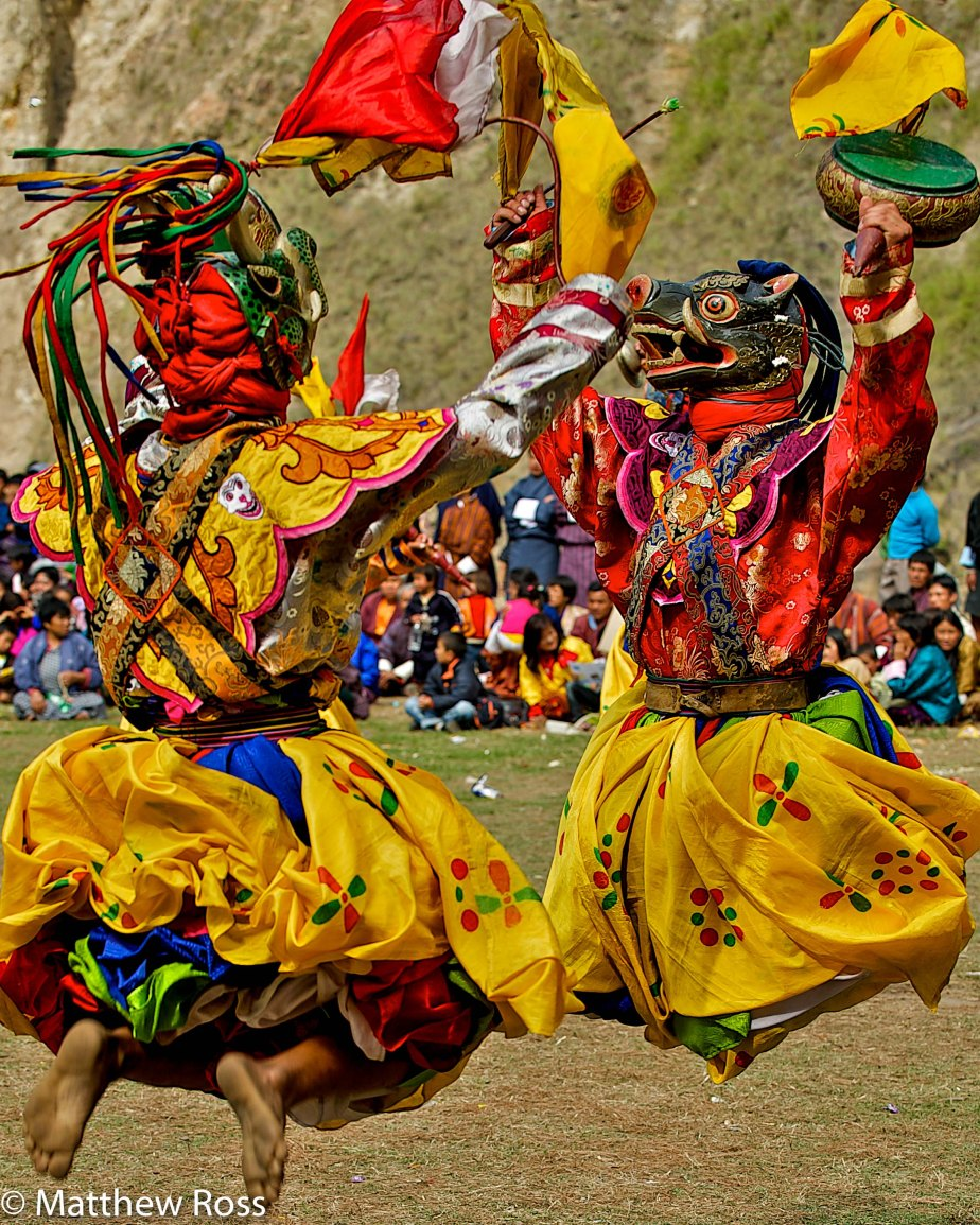 DANCE OF THE DRUMS II, GOM KORA (OR GOMPHU KORA)TSHECHU